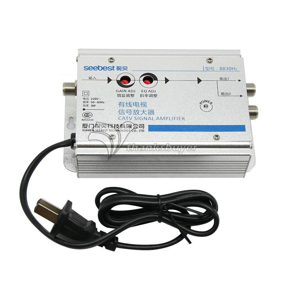 Seebest Kabel TV Signaal Versterker Splitter Booster CATV versterker 2 Output 30DB SB-8830H2