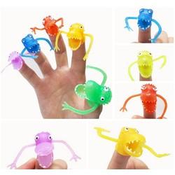 MyXL 5 stuks/partij Novel plastic handpop verhaal Mini dinosaurus speelgoed met kleine vinger Gashapon speelgoed GYH