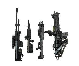 """4 stks/set Wapen Marksman Sniper Shotgun Rifle Machine Gun Turret Voor 6 """"Halo Figuur"""