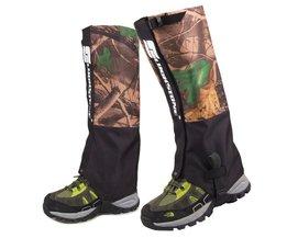 LUCKSTONE Camouflage Waterdichte Schoenen Been Cover bescherming voor Camping Sneeuw slobkousen Wandelen Rijden Skiën Ski outdoor Scheenbeschermer