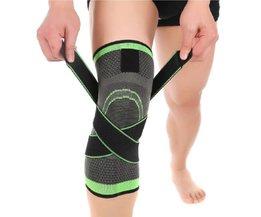 1 stks Sport 3D Weven Knie Protector Ademend Mouw Elastische Kniebrace Ondersteuning Sport Verstelbare Bandage voor Running Jogging