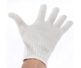 1 Paar Handschoenen Proof Bescherm Rvs Draad Veiligheid Handschoenen Cut Metal Mesh Anti Slijtage Anti-snijden Ademende Handschoen