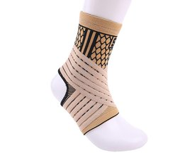 Hoge elastische bandage compressie breien sport protector basketbal voetbal ankle brace guard# ST3779