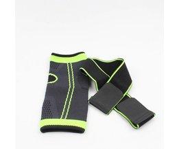 1 stks vierzijdige 3D weven elasticiteit Verstelbare ankle brace Guard Pad nylon band fitness hak protector gym apparatuur