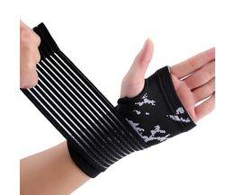 Nylon en spandex materiaal zwart aanpassing hand palm brace# ST6824