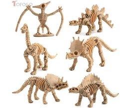 TOFOCO 12 stks/set Nieuwigheid Diverse Dinosaurusfossiel Skelet Cijfers Model Building Kits Poppenhuis Decor Voor Kinderen Kid Volwassen