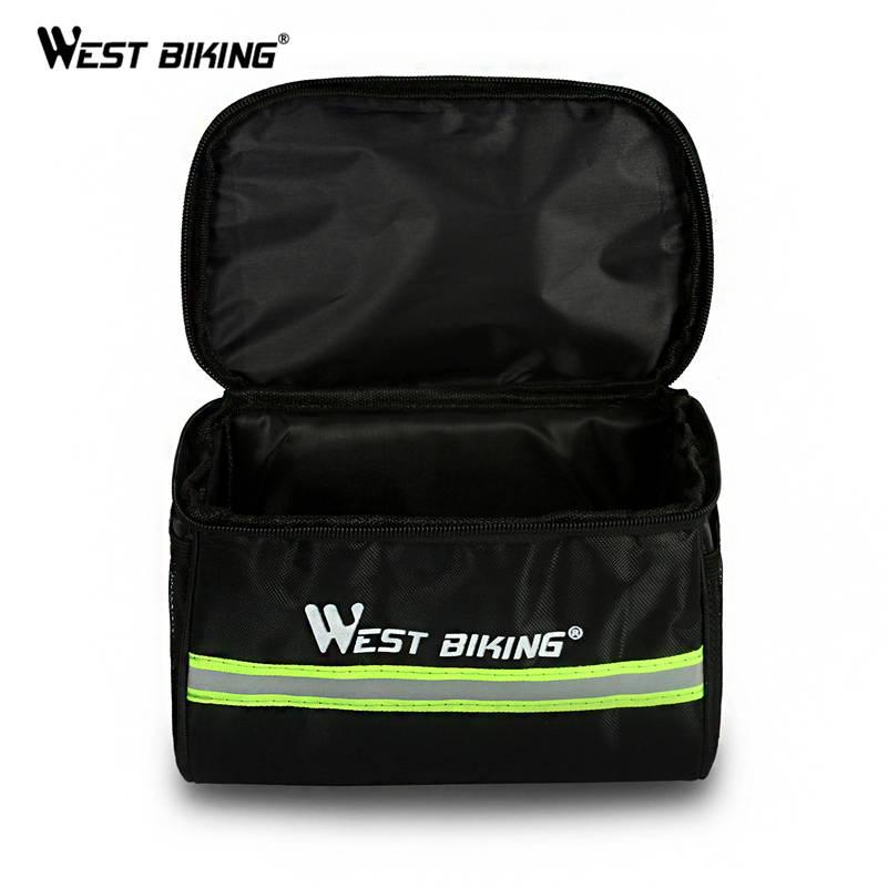 WEST FIETSEN Fietsen Bike Bag Fiets Voor Bag Reflecterende Mtb Fietsen Mand Pannier Frame Tube Fietsen Voor Stuurtas