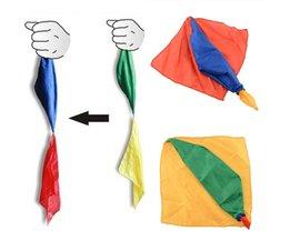 22 cm * 22 cm Sjaal Voor Magic Trick Door Mr Tricks Joke Props Gereedschap Speelgoed Veranderen Kleur Kids kinderen Geschenken