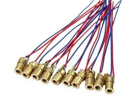 100 stks/partij 650nm 6mm 5 V 5 mW Laser Dot Diode Module Koperen Hoofd Rood