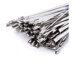 100 stks Zelfsluitende Metalen Kabelbinders Rvs Zip Tie 300x4. 6x0. 25 mmFor Schip Elektriciteit