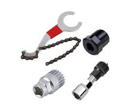 Mountainbike Reparatie Tool Kits Fietsketting Removel/Beugel Remover/Freewheel Remover/Crank Puller Remover buitensporten