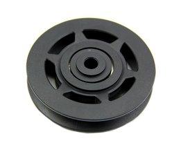 JHO-95mm Zwarte Lager Takelwiel Kabel Gym Apparatuur Deel Antihechtende