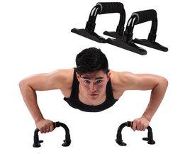 Een paar Staal Zwart dragende 520 kg I vormige-Up Stands Fitnessapparatuur Body Spier Training Apparaat Push Ups