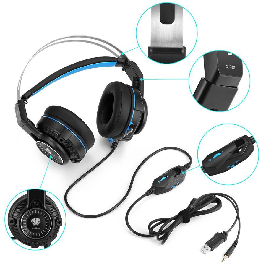 3.5mm Gaming hoofdtelefoon Koptelefoon Gaming Headset Hoofdtelefoon Xbox Een Headset met microfoon v