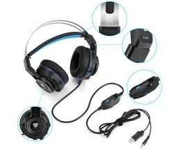 3.5mm Gaming hoofdtelefoon Koptelefoon Gaming Headset Hoofdtelefoon Xbox Een Headset met microfoon voor pc ps4 playstation 4 laptop telefoon