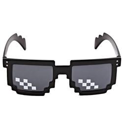 MyXL Grappige Thug Life Bril 8 Bit Pixel Gaan zonnebril Unisex Zonnebril Speelgoed Voor Kinderen Volwassenen Plezier Behulp Drop
