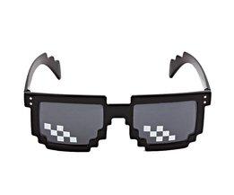 Grappige Thug Life Bril 8 Bit Pixel Gaan zonnebril Unisex Zonnebril Speelgoed Voor Kinderen Volwassenen Plezier Behulp Drop