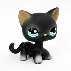 MyXL Lps speelgoed #994 zwart staande korte haar kat dier pet shop kitty