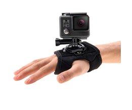 Camera Strap Wrist 360 Roterende Hand Handschoen Pols Palm Riem Frame Statief Adapter voor Gopro Hero5 Action Camera Accessoires