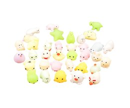 Glow in the dark Leuke Mochi antistress bal Squishy Kat Squeeze Healing Fun Kids Kawaii kids Volwassen Speelgoed Stress Reliever Decor
