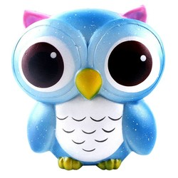 MyXL Antistress Elastische Milieuvriendelijke PU Mooie Galaxy Uil Stijgende Squishes Speelgoed