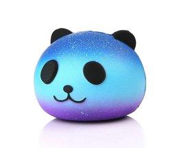 Leuke Blauwe Panda Crème Geurende Squishy Trage Stijgende Squeeze Kid Speelgoed Telefoon Charme