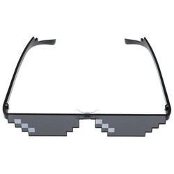 MyXL Nieuwigheid Polygonal Zwart Pixel Bril Zonnebril 8 Bit Stijl Kinderen Fun Speelgoed