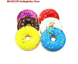 Squishy Squeeze Kleurrijke Doughnut Decoratie Sleutel Mobiele Telefoon Riemen Funny Gadgets Anti Stress Nieuwigheid Antistress Speelgoed Oyuncak