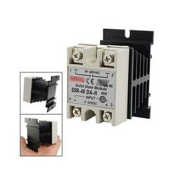 MyXL WSFSKoop DC naar AC Eenfase Solid State Relais SSR-40DA 40A 90-480 V AC + Warmte Sink