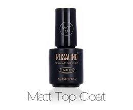 Zwarte Fles 7 ML Matt Top Coat Gel Nagellak Nail Art Nail Gel Polish UV LED Weken-off Dull Frosted Oppervlak Permanente <br />  Rosalind