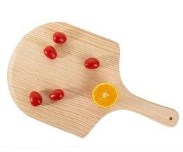 Houten Pizza Schil Natuurlijke Kleur Milieuvriendelijke Hout Pizza Pad met Handvat Pizza Plaat Bakken Gereedschappen <br />  OUSSIRRO