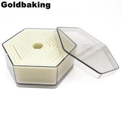 MyXL 9 Stuk Hexagon Vormige Biscuit Cutter Cookie Cutter Set <br />  Goldbaking