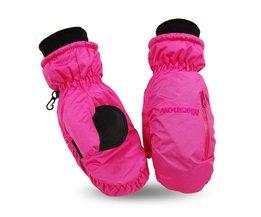 Mannen Vrouwen Winter Warm Skiën Handschoenen Waterdicht Snowboard Mittens Antislip Fietsen Klimmen Ski Handschoenen <br />  QUESHARK
