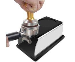 Realand Stevige Rvs Siliconen Espresso Sabotage Stand Barista Tool Aanstampen Houder Rack Plank Koffie Machine Tool <br />  REALAND