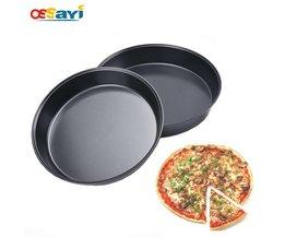 6/7 Inch Ronde non-stick Pizza Pan Hoge Duty Koolstofstaal Bakken Tools Keuken Bakvorm Bakken Cake Bakken koken Pan <br />  ossayi