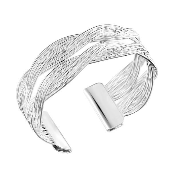 Mode-sieraden Groothandel Legering Goud-Zilver Kleur Twisted Metal Rotan Vrouwen Brede Armband & Ban
