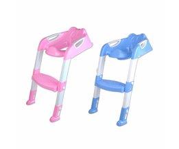 Baby Peuter Potty Toilet Trainer Autozitje Stoel Stap met Verstelbare Ladder Zuigeling Wc Training antislip Folding Seat <br />  MyXL
