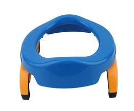 Baby Reizen Potje Seat 2 in1 Draagbare Toiletbril Kids Comfortabele Assistent Multifunctionele Milieuvriendelijke Kruk LA879597 <br />  MyXL