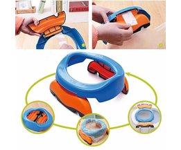 Opvouwbare Draagbare Reizen Potje Plastic Training Stoel Toiletbril voor Baby Kids <br />  MyXL