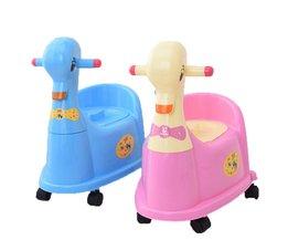 Baby Wc Cartoon Eend Kids Plastic Baby Toiletbril Lade Trainer Meisjes Jongen Comfortabele Potje Met Wielen kinderen Wc <br />  MyXL