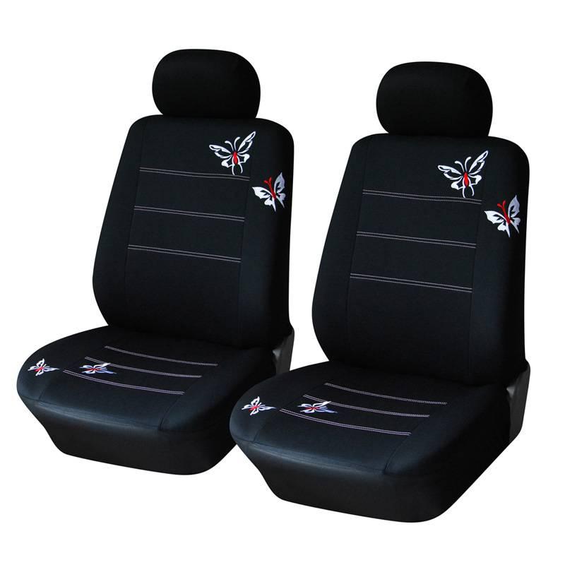 Vlinder Geborduurde Auto Bekleding Universele Meeste Voertuigen Zetels Interieur Accessoires Zwarte