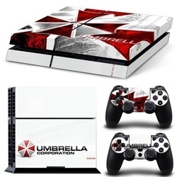 MyXL Classic Umbrella Corporation Logo Decal Skin Voor PS4 Console Playstation 4 Skin Stickers + 2 Stks Controller Beschermende Huid <br />  MyXL