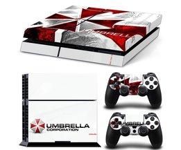 Classic Umbrella Corporation Logo Decal Skin Voor PS4 Console Playstation 4 Skin Stickers + 2 Stks Controller Beschermende Huid <br />  MyXL