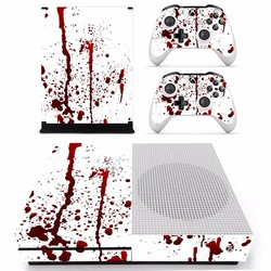 MyXL Bloody red Splash ploetert Vinyl Cover Decal Xboxone S Huid Sticker Voor Xbox Een S Slim Console 2 Controller Skins Stickers <br />  ARRKEO
