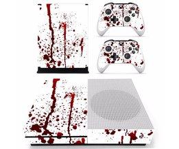 Bloody red Splash ploetert Vinyl Cover Decal Xboxone S Huid Sticker Voor Xbox Een S Slim Console 2 Controller Skins Stickers <br />  ARRKEO
