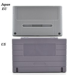 MyXL Game Cartridge Vervanging Plastic Shell Voor SNES game Console card 16bit game card shell (US/JP/EU versie) <br />  xunbeifang