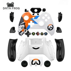 MyXL Data kikker custom limited edition gevallen voor xbox one controller behuizing shell voor xbox one case mod kit + volledige knoppen  <br />  <br />  DATA FROG