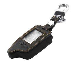 Jingyuqin 5 Knoppen Afstandsbediening Lederen Klep Case Voor Tomahawk TW9010 TW9030 Twee Manier Alarmsysteem LCD Controller Sleutelhanger <br />  jingyuqin