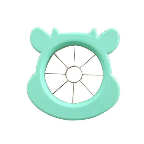 Leuke Rvs Apple Peer Slicer Fruit Groente Gereedschap Keuken Accessoires Mooie Animal Patroon Plasti
