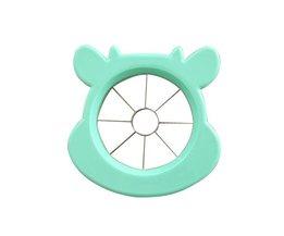 Leuke Rvs Apple Peer Slicer Fruit Groente Gereedschap Keuken Accessoires Mooie Animal Patroon Plastic Gereedschap Picknick